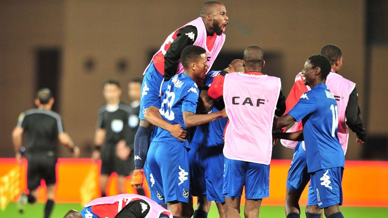 Namibia celebrate