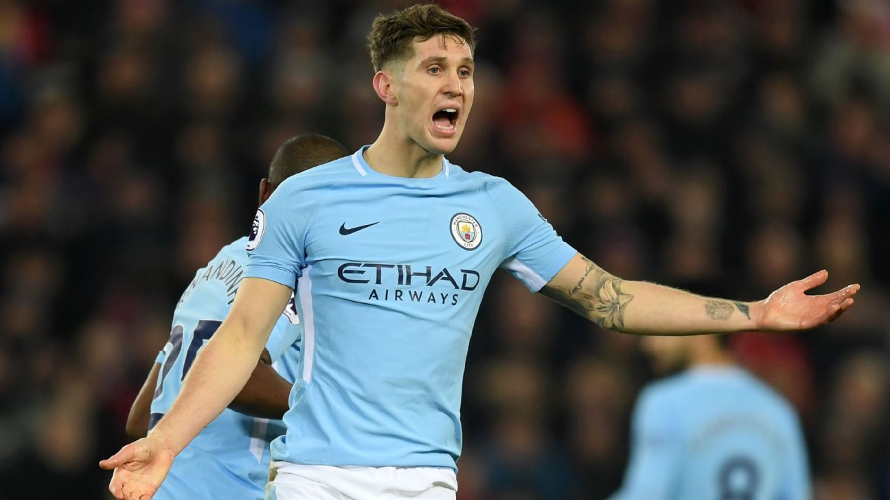 John Stones was in and out of Manchester City's title-winning team.