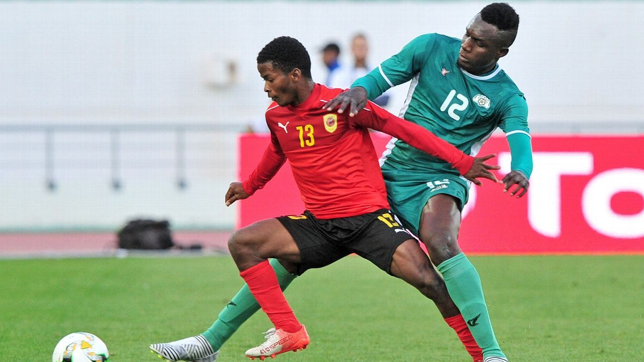 Angola's Va and Abdoul Abass Guiro of Burkina Faso