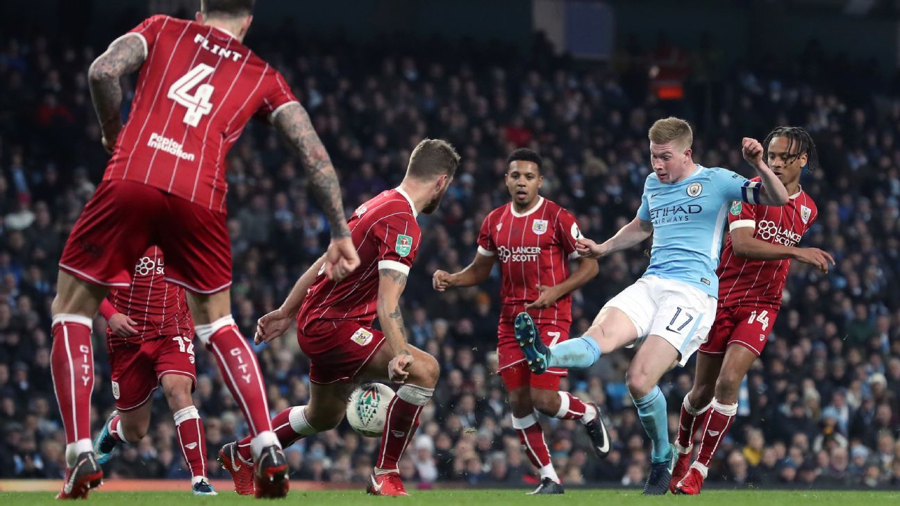 Bristol City gave Man City a scare with their organized press in the Carabao Cup semifinal.