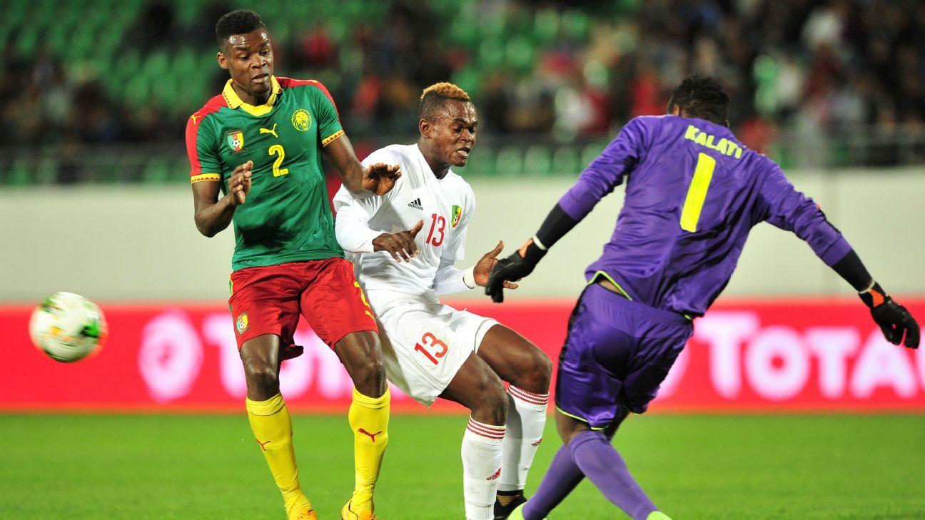 Oscar Gwot Kalati and Bertrand Owundi of Cameroon, Jaures Maudsly Ngombe of Congo