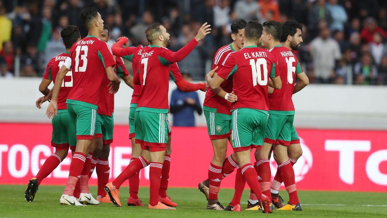 Morocco celebrate, CHAN 2018