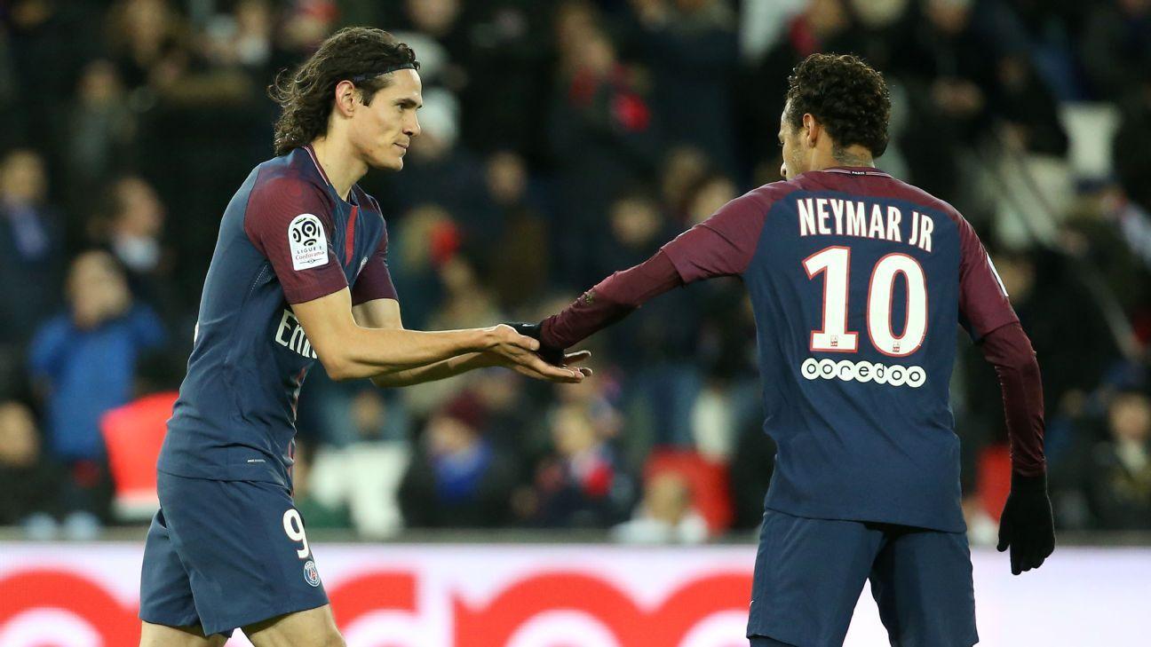 Edinson Cavani and Neymar
