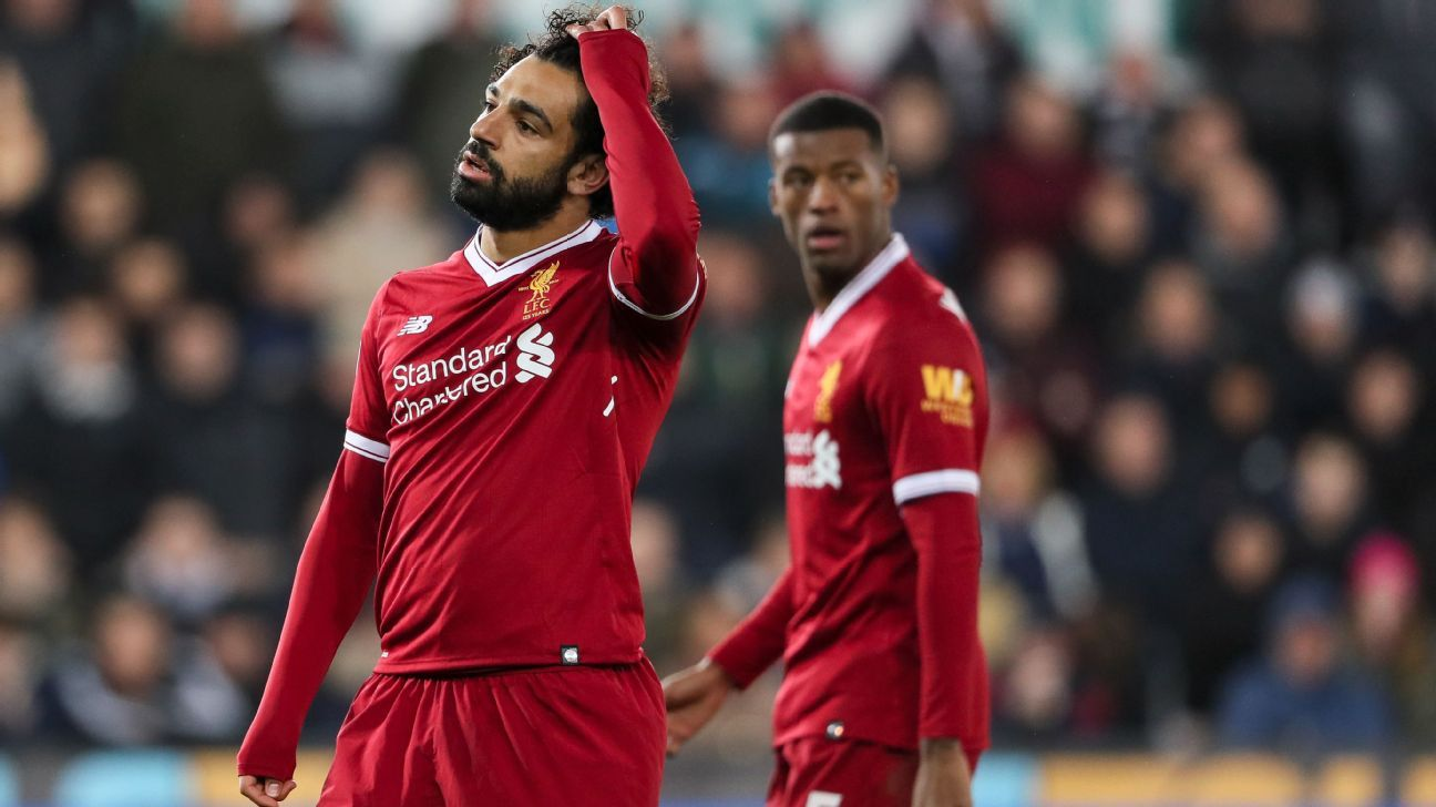 Off-form Liverpool stunned as Swansea earn three vital points