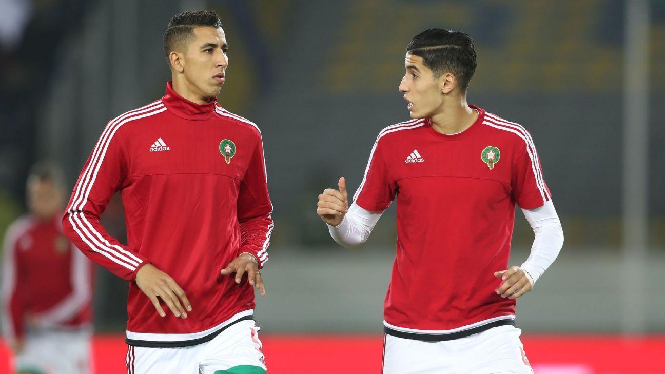 Nayef Aguerd & Jawad El Yamiq of Morocco
