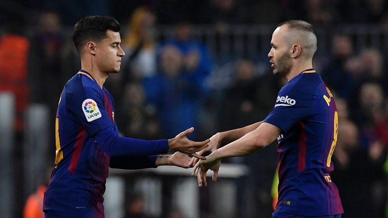 Philippe Coutinho made his long-awaited Barcelona debut vs. Espanyol.