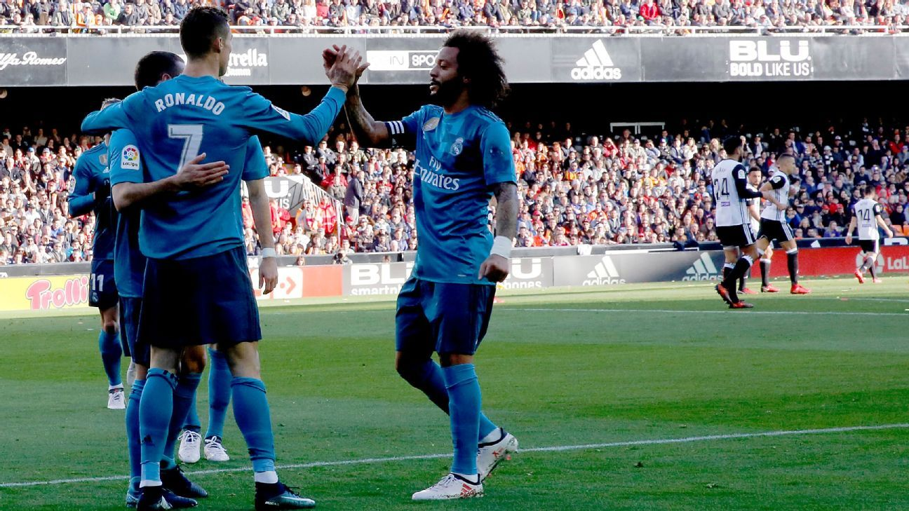 Real Madrid bounced back from the Leganes loss with a 2-1 win at Valencia.