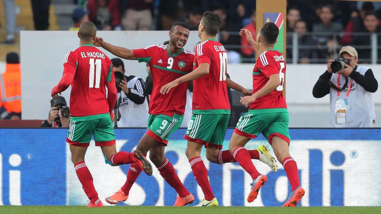 Ayoub El Kaabi & Morocco celebrate