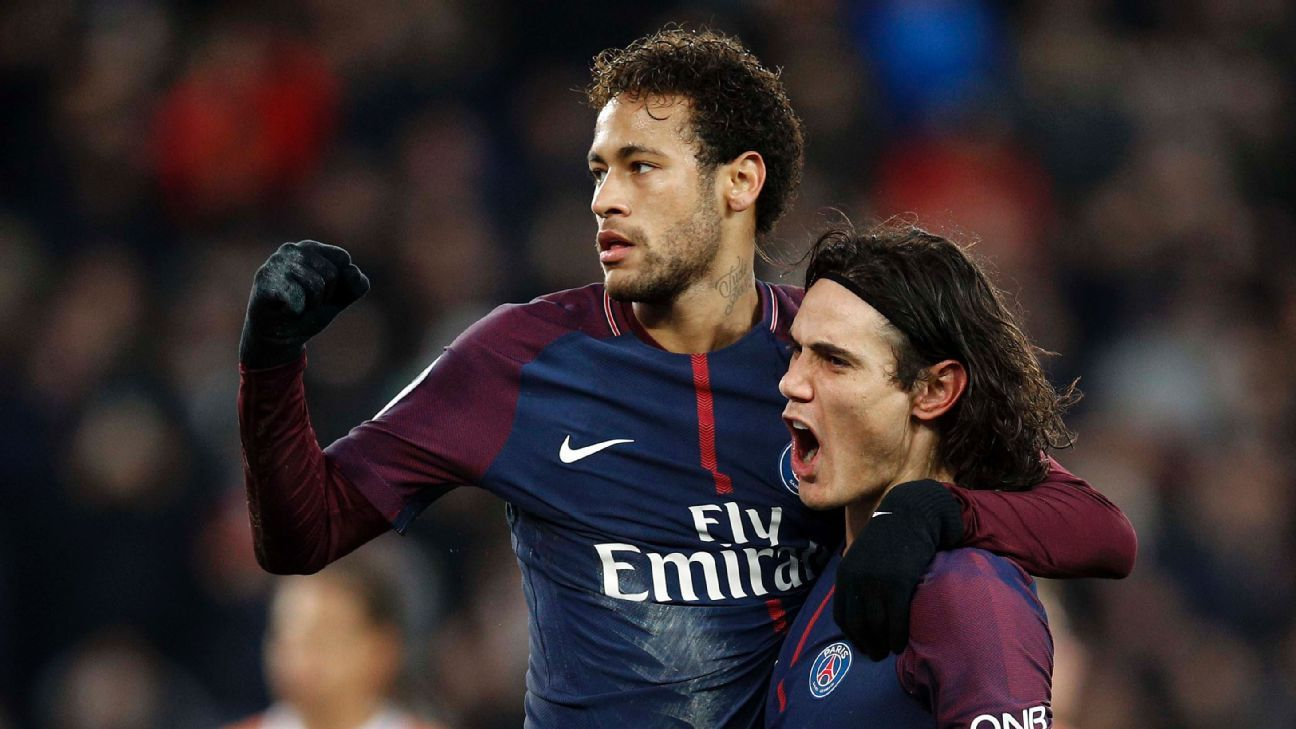 Neymar and Edinson Cavani seemed to have resolved their penalty feud...for now.