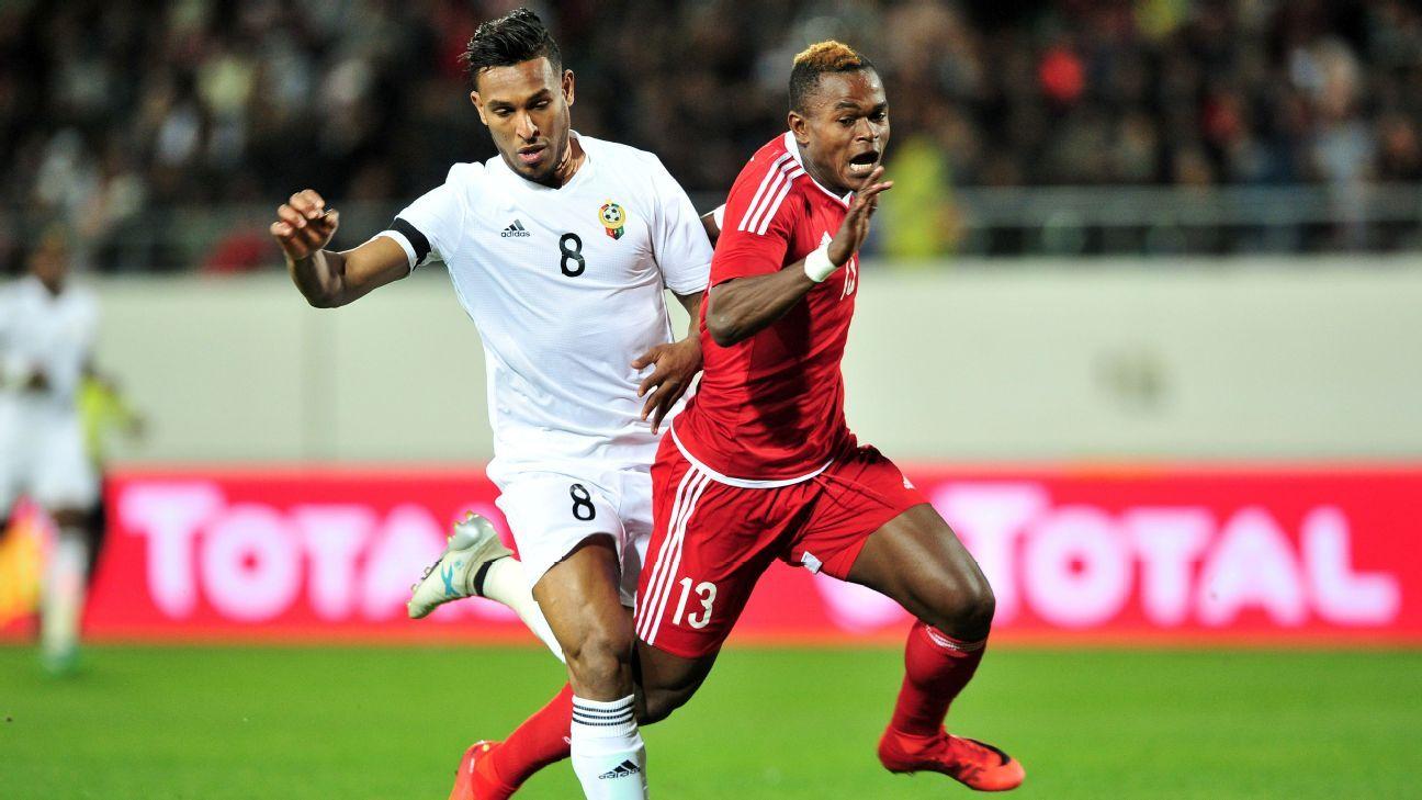 Jaures Maudsly Ngombe of Congo & Sand Masaud of Libya