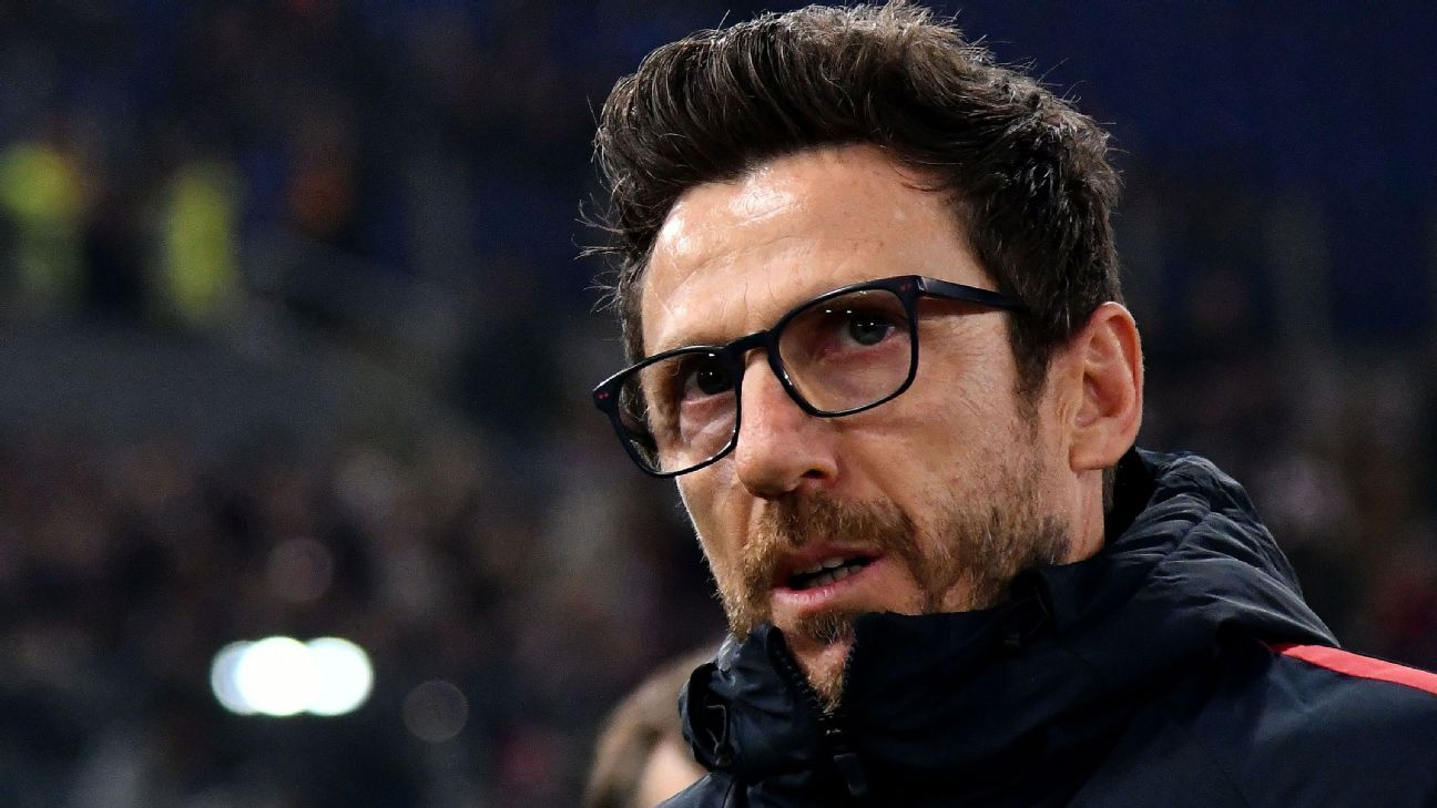 Eusebio Di Francesco joined Roma from Sassuolo last summer.