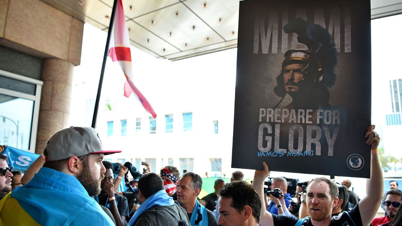 Fans gathered in Miami as MLS unveiled the new club in Miami.