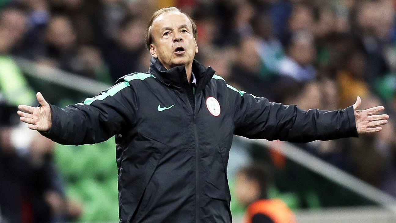 Nigeria coach Gernot Rohr has a policy of focusing on young talent.