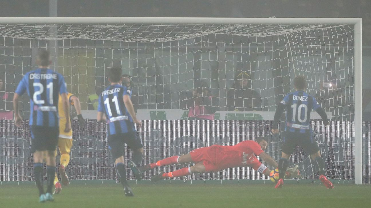 Gianluigi Buffon's penalty save showed he is still near the top of his game.