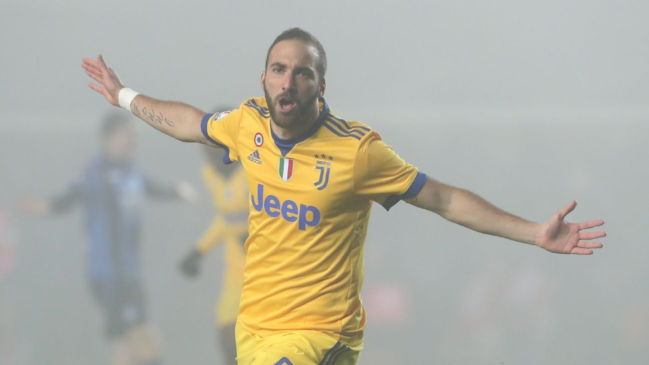 Gonzalo Higuain delivered a strong performance, scoring the only goal at Atalanta.