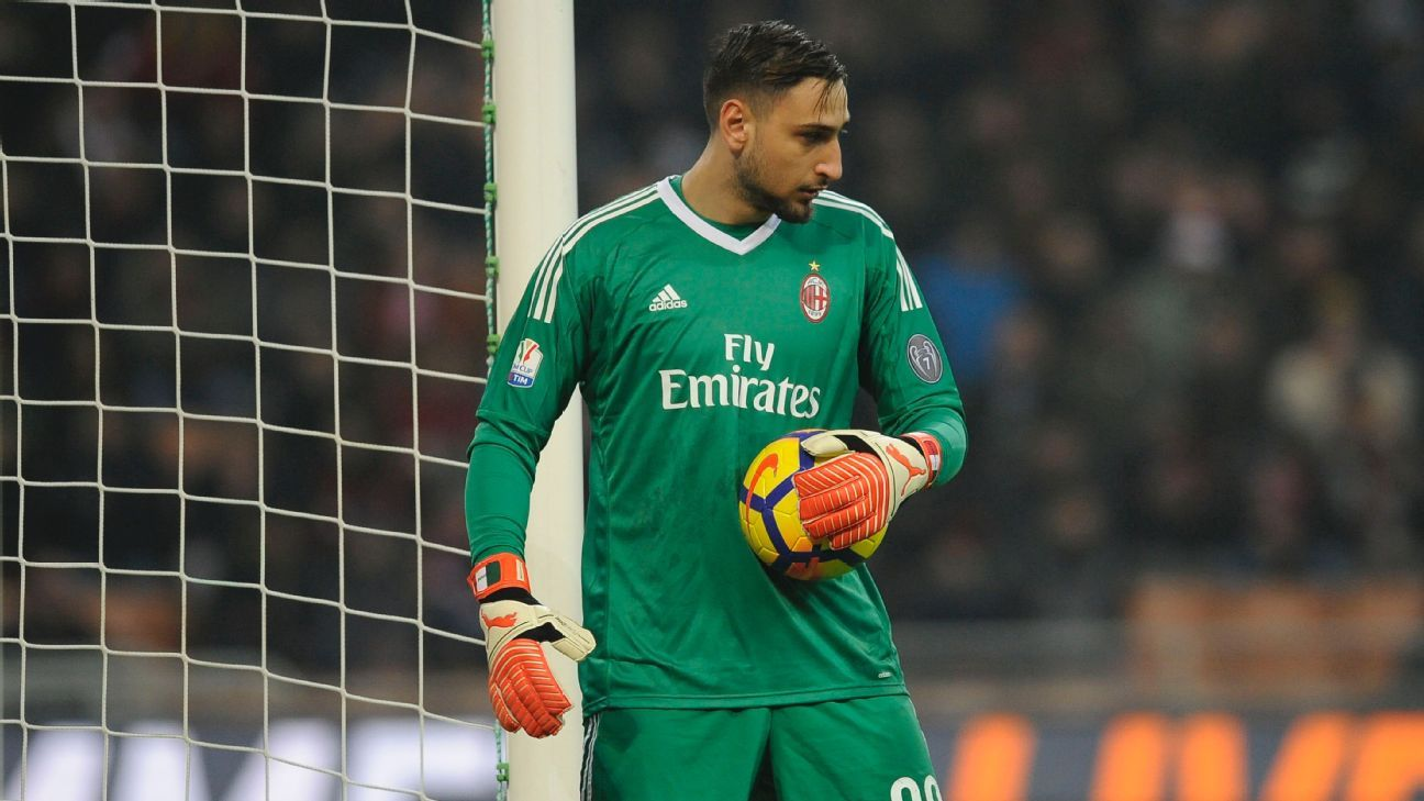 Gianluigi Donnarumma kept a clean sheet for Milan in a goalless Coppa Italia draw with Lazio.