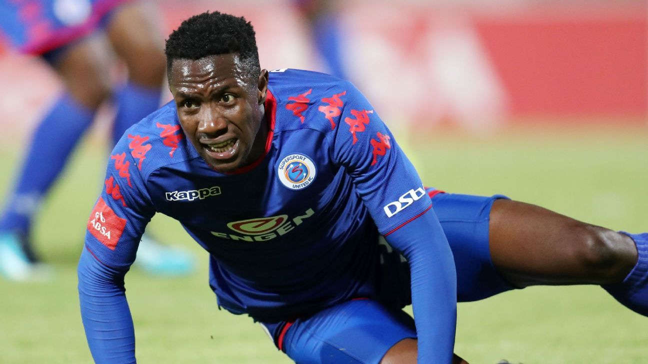 Zimbabwean striker Evans Rusike plays for SuperSport United in South Africa.