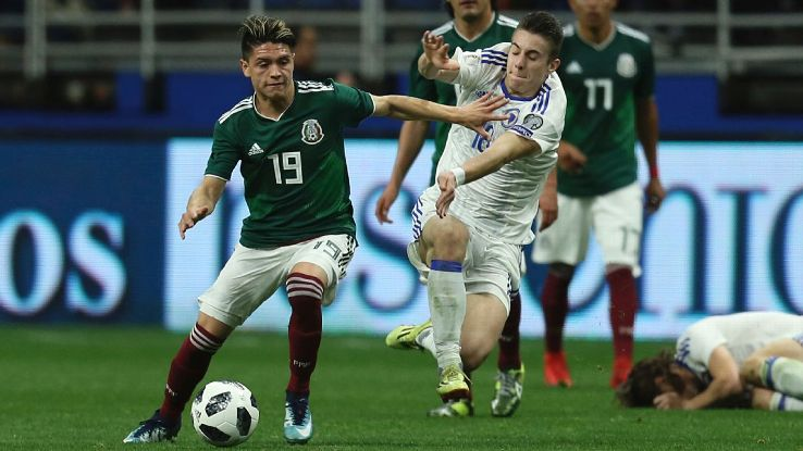 Mexico midfielder Jonathan Gonzalez is set to face some of his former U.S. youth teammates in Tuesday's clash between the two CONCACAF rivals.
