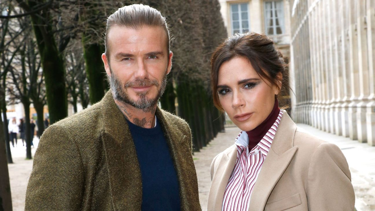 David and Victoria Beckham at Paris Fashion Week