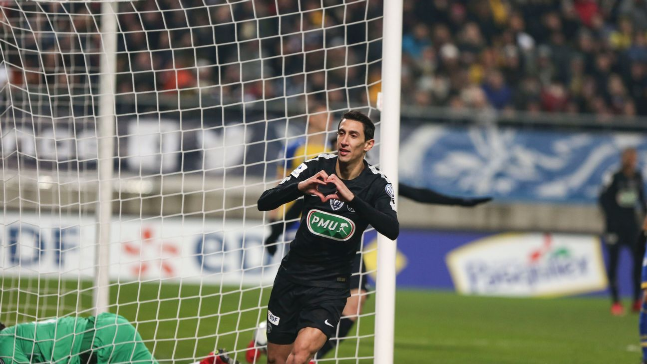 After a slow first half, Angel Di Maria now has 11 goals in 12 games since Dec. 9th for PSG.