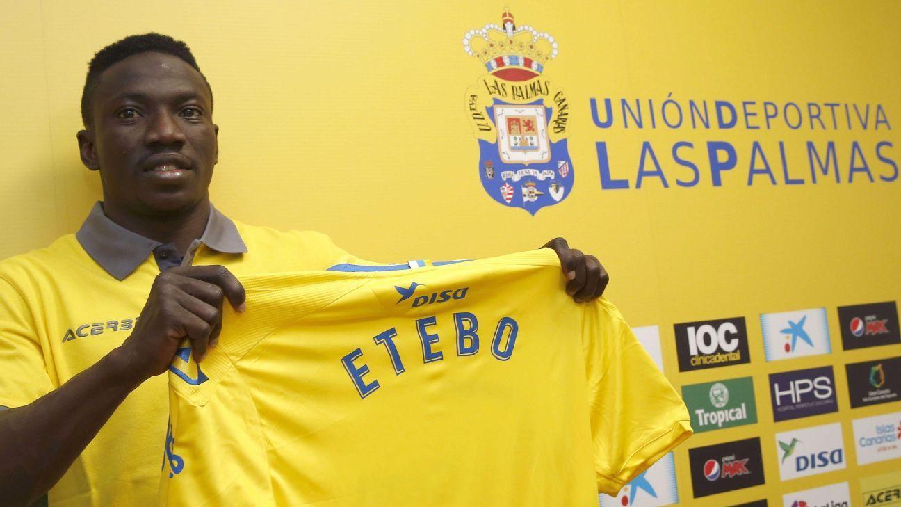 Oghenekaro Etebo of Las Palmas
