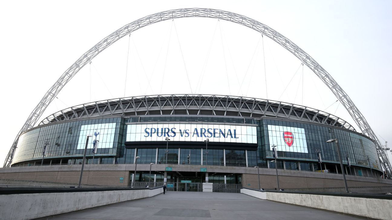 Wembley ahead of the North London derby between Tottenham and Arsenal.