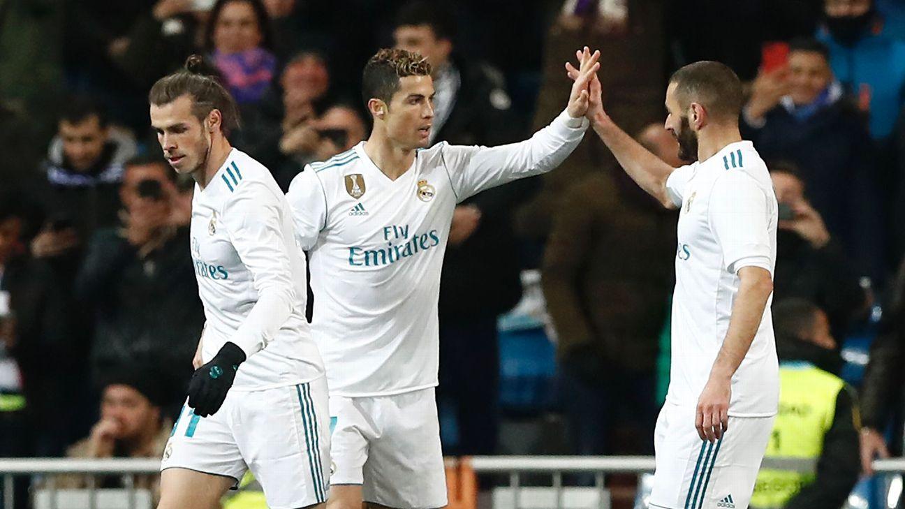 Real Madrid's BBC: Gareth Bale, Karim Benzema and Cristiano Ronaldo.
