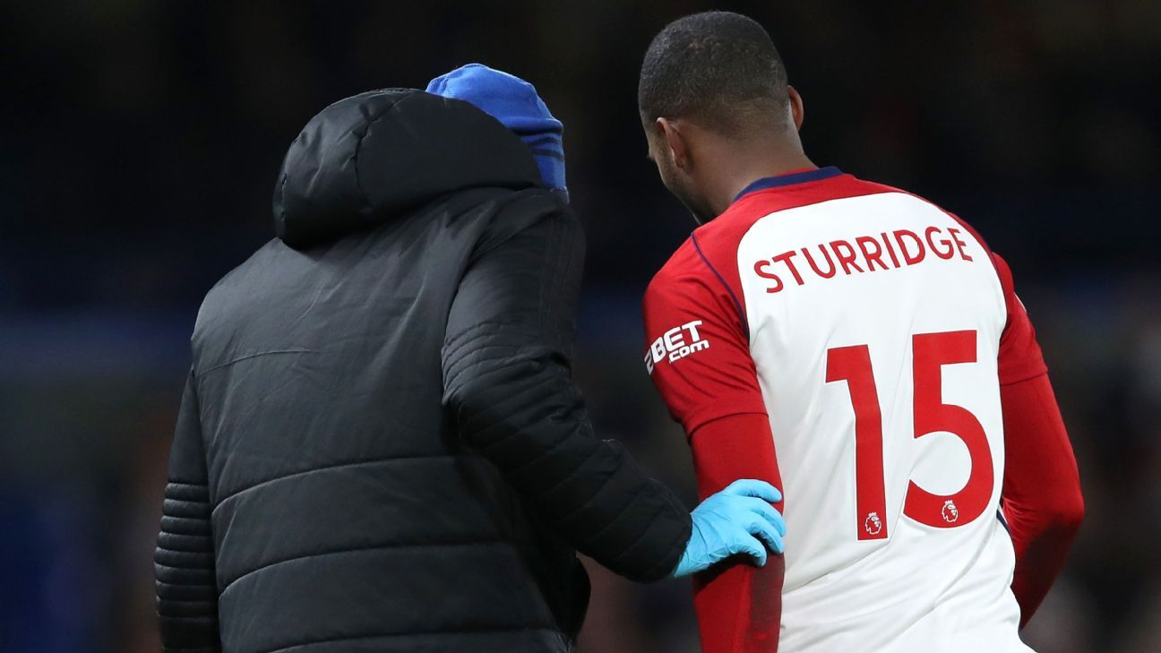 West Brom's Daniel Sturridge was substituted just three minutes into the match against Chelsea