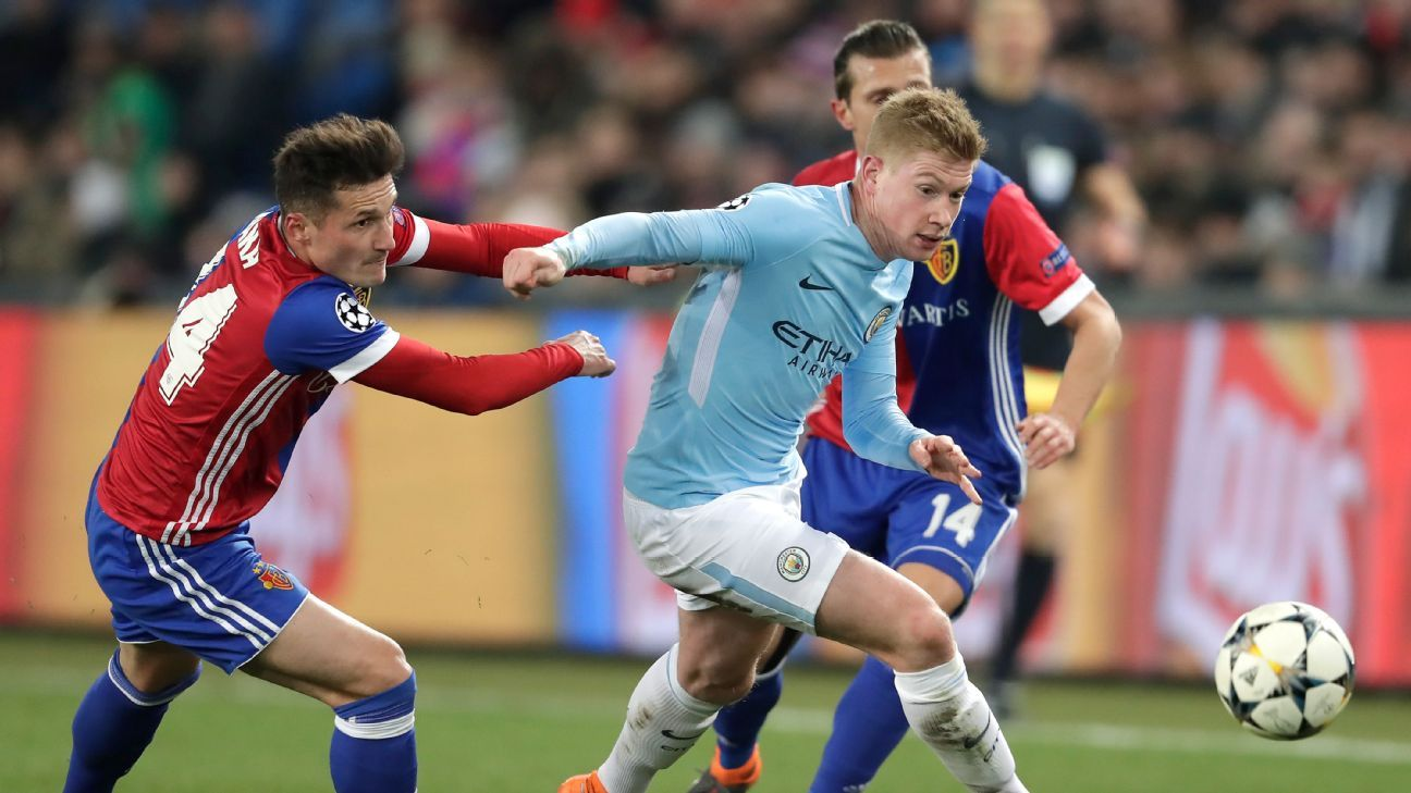 Kevin De Bruyne was far too much for Basel to handle on Tuesday.