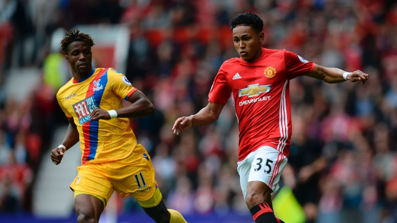 Young Demetri Mitchell impressed for Man United in last season's finale against Crystal Palace.