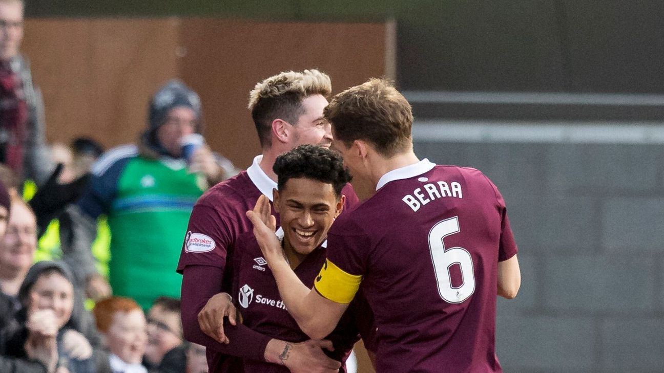 Demetri Mitchell's loan spell at Hearts could not have gotten off to a better start.