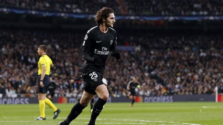 Adrien Rabiot was PSG's biggest bright spot against Real Madrid.
