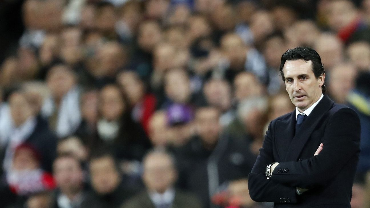 Unai Emery had nothing to smile about after PSG's 3-1 loss at Real Madrid.