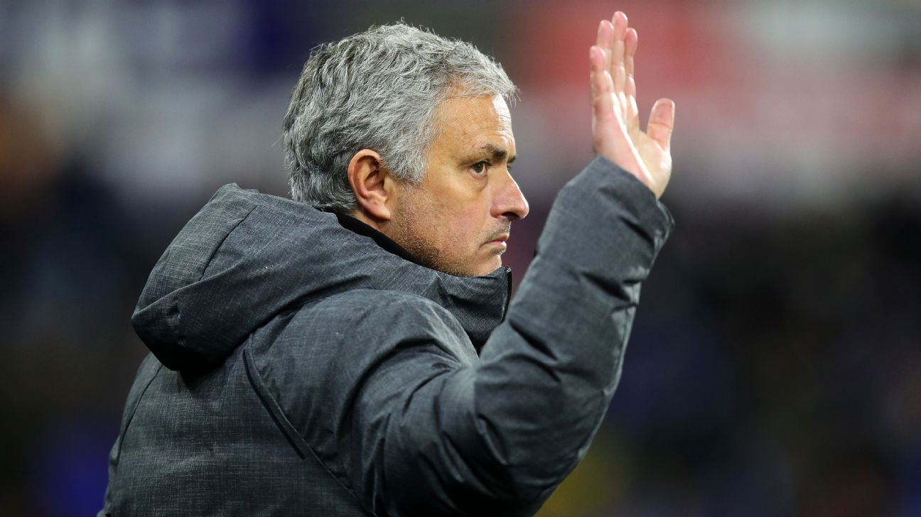 Jose Mourinho during Manchester United's FA Cup win against Huddersfield.