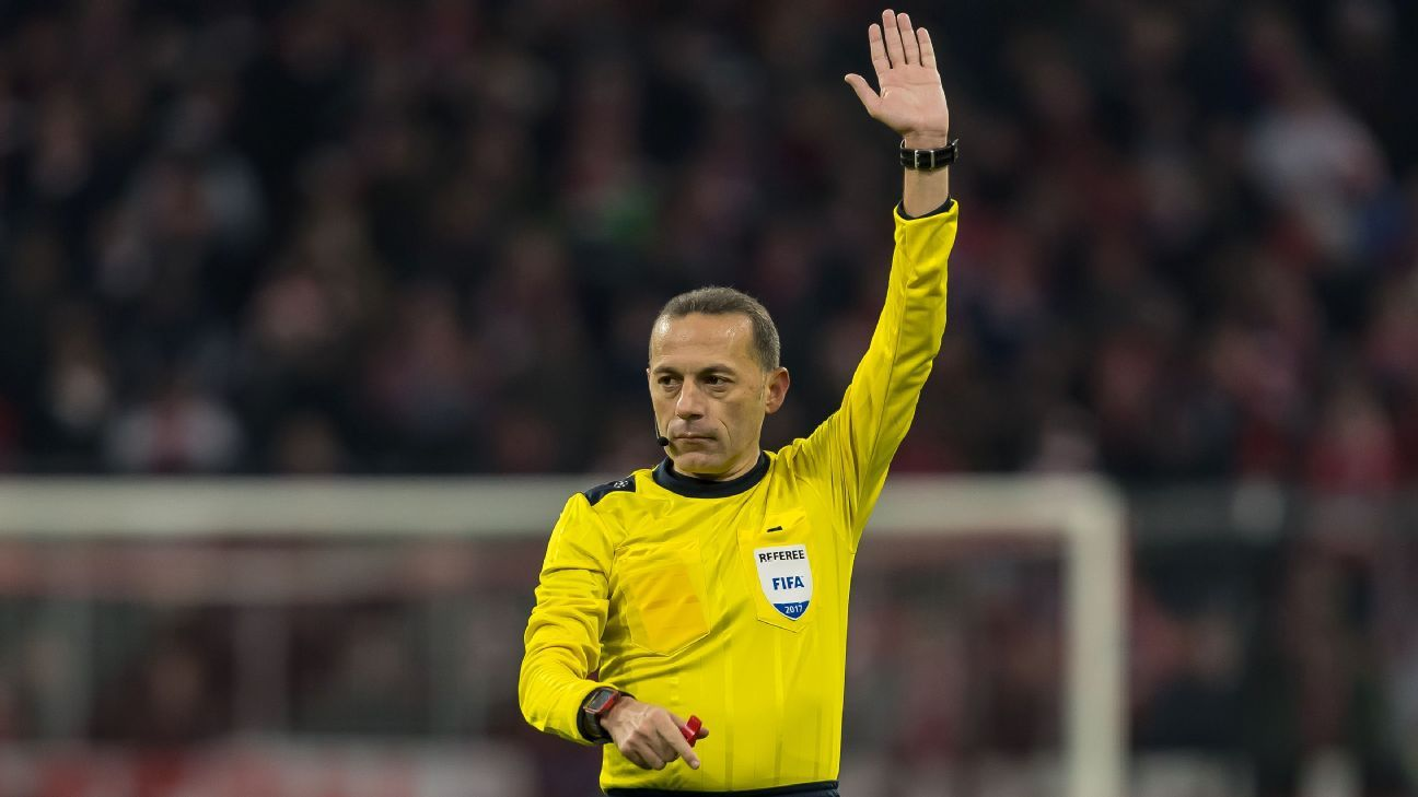 Cuneyt Cakir will referee the Champions League game between Chelsea and Barcelona.