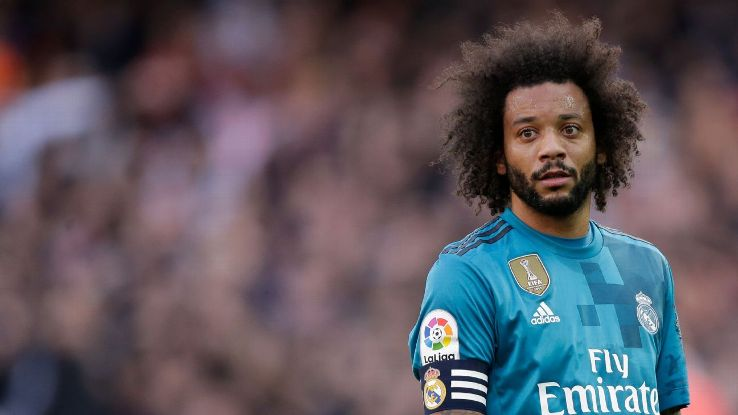 Marcelo in action for Real Madrid against Valencia.