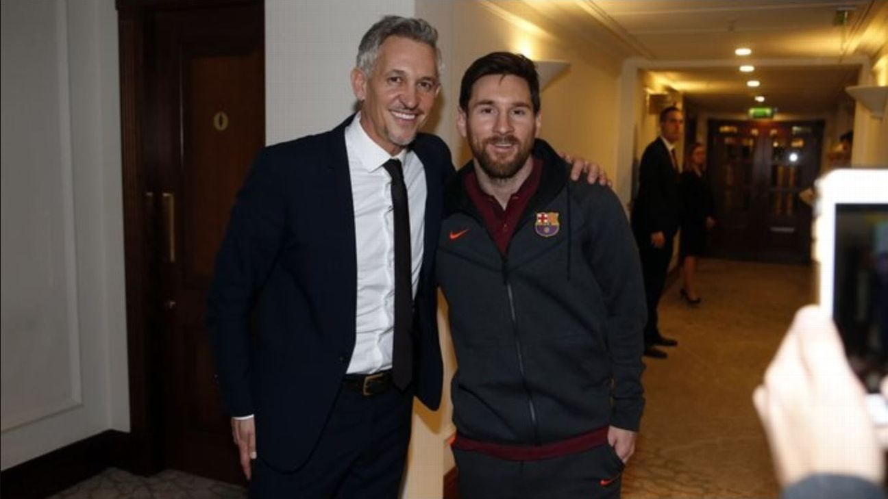 Gary Linker meets Lionel Messi