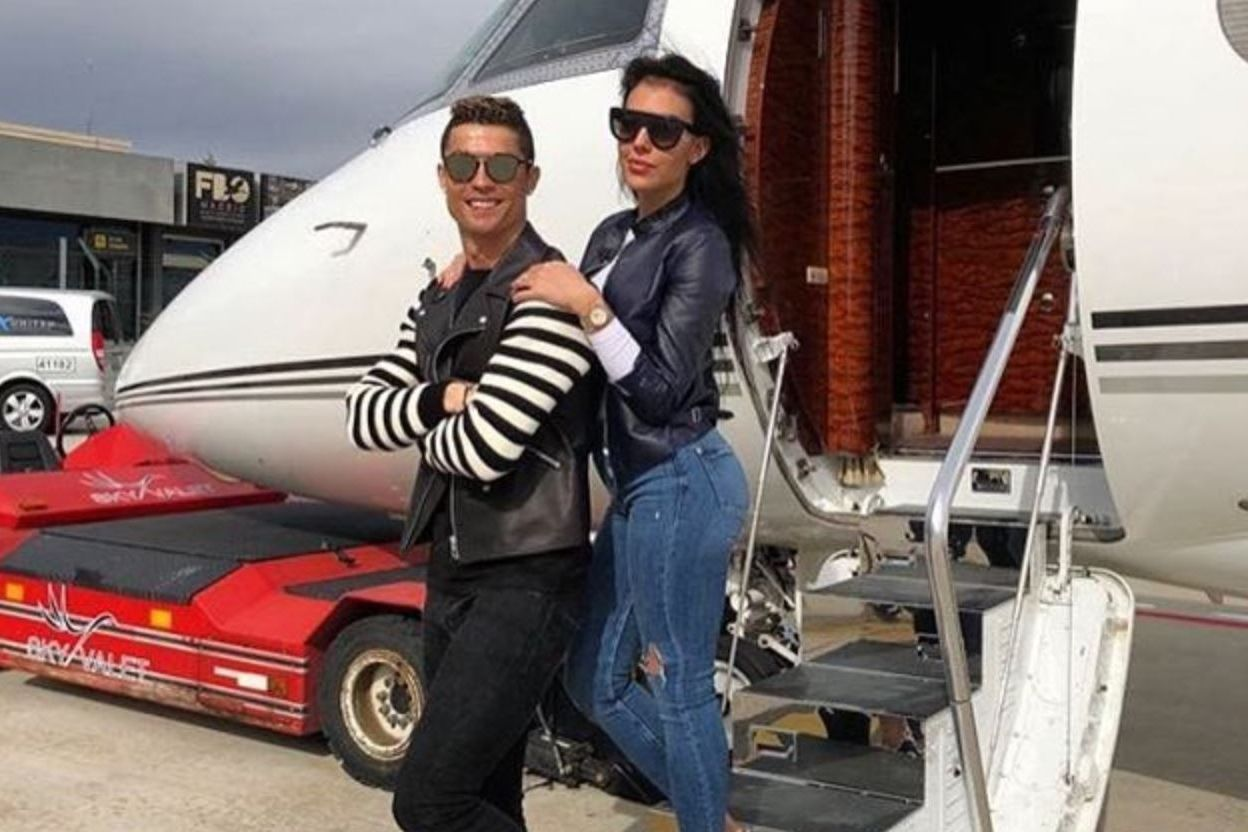 Cristiano Ronaldo with partner Georgina Rodriguez