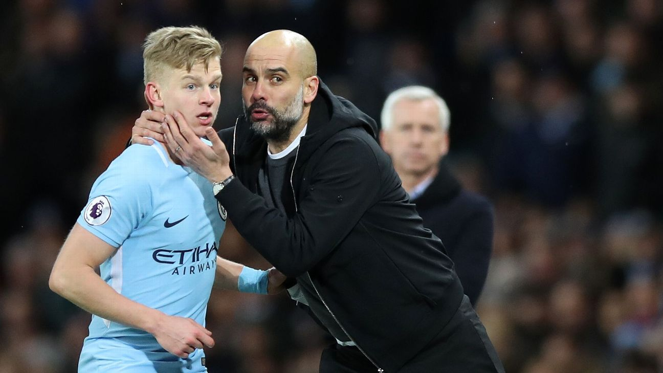 Oleksandr Zinchenko's performances in the 2017-18 season convinced Pep Guardiola not to buy a replacement.