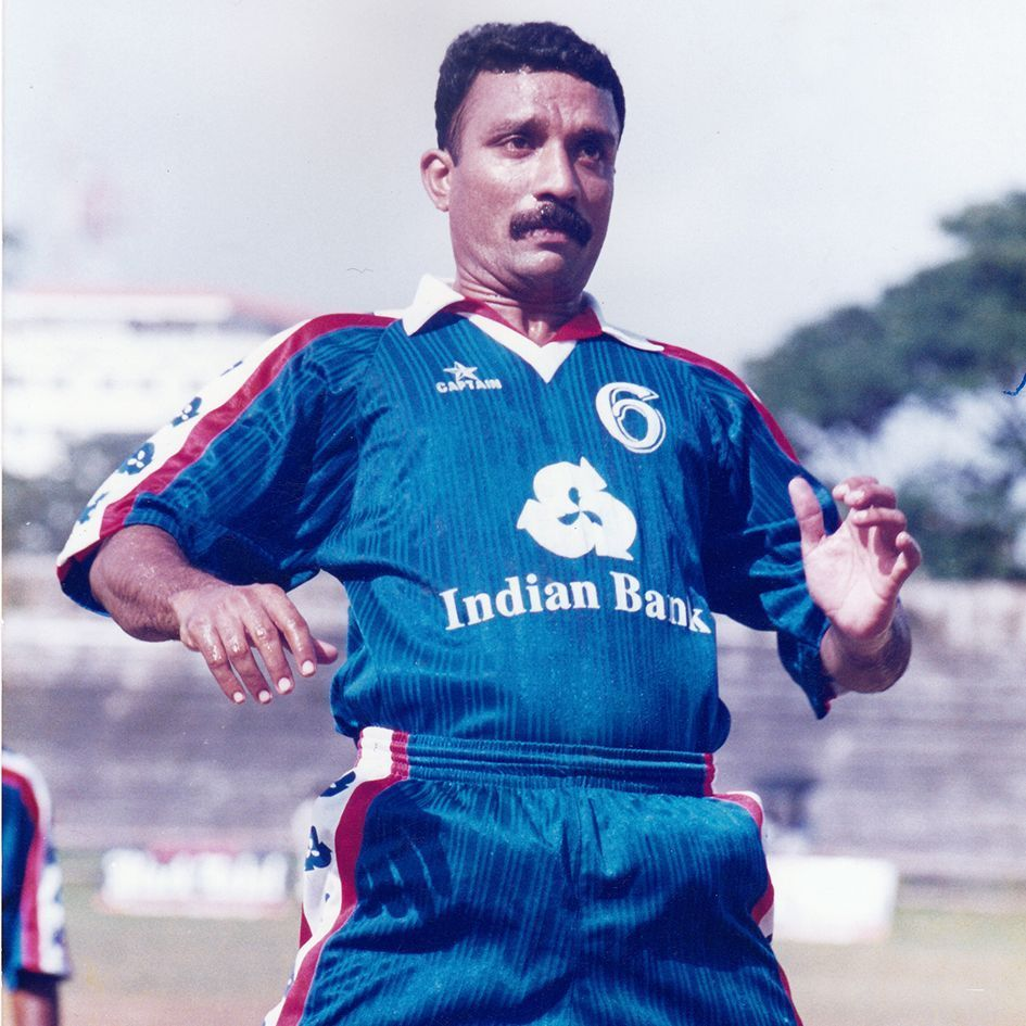 Sathyan began his career in 1983, turning out for Kerala in the Santosh Trophy