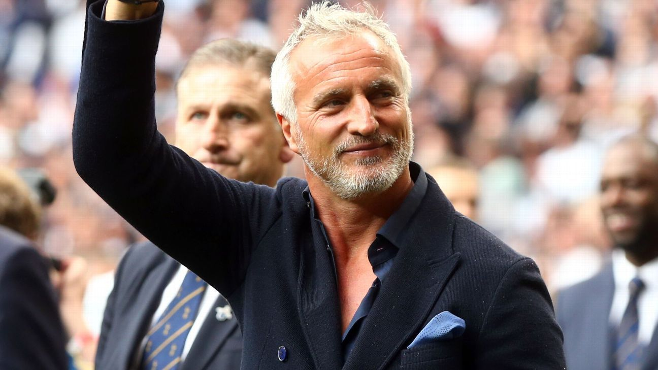 David Ginola attends the final match at White Hart Lane between Tottenham Hotspur and Manchester United