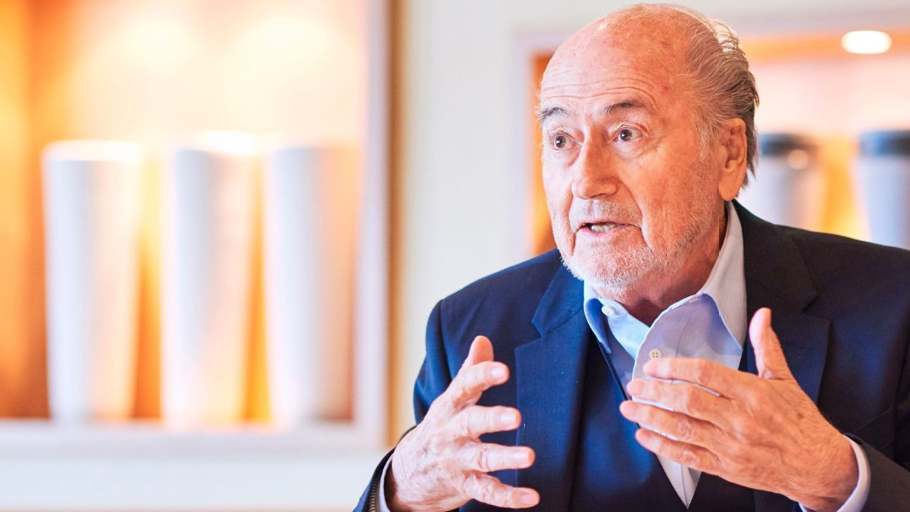 Former FIFA president Sepp Blatter is serving a six-year ban from football