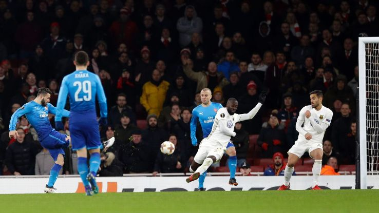 Sead Kolasinac's goal gave Arsenal breathing room in terms of aggregate vs. Ostersunds.
