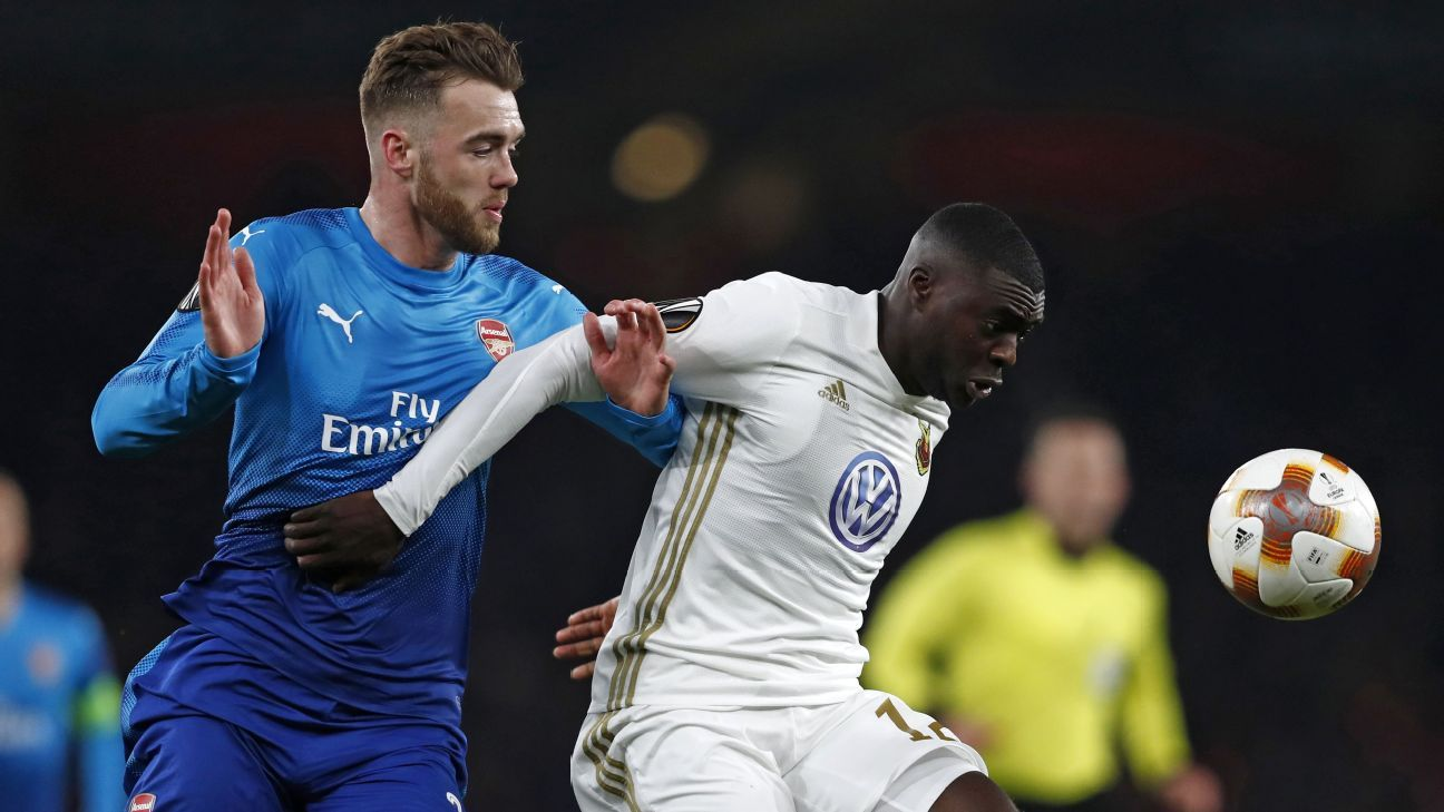 Calum Chambers had a rough evening and was left in the dust on Ostersunds' second.