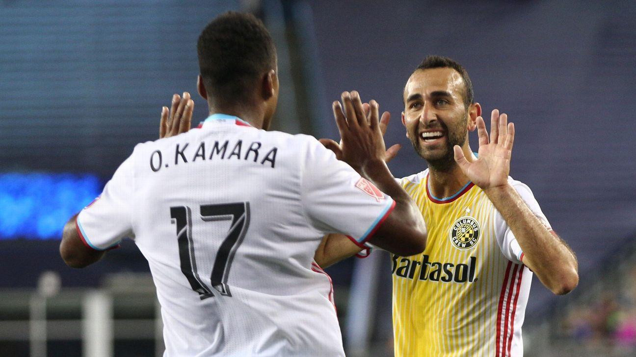 Ola Kamara and Justin Meram