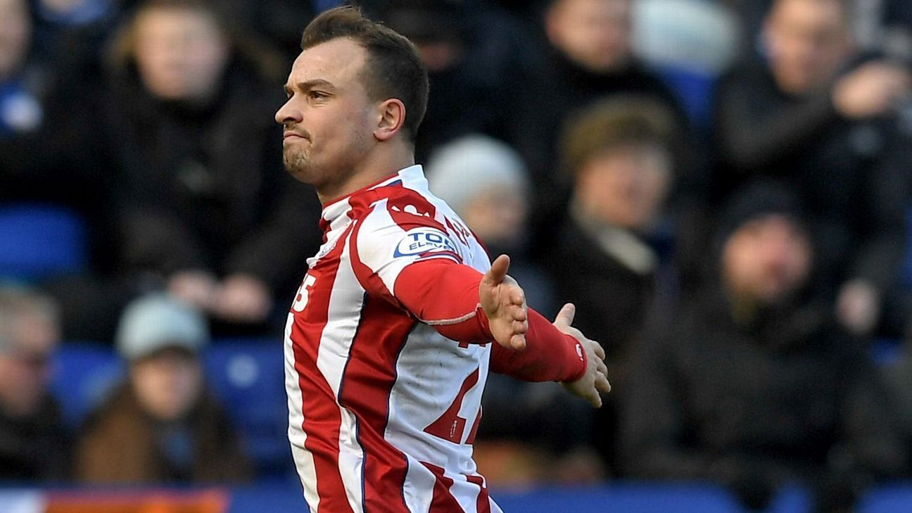 Stoke's Xherdan Shaqiri could be heading to Liverpool.