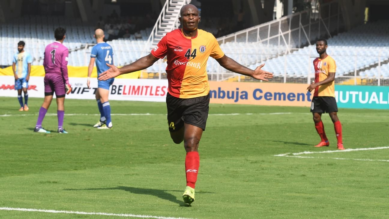 Too many changes? East Bengal began with Charles de Souza as their main striker, then chose to rely on Willis Plaza, before going with Dudu Omagbemi (above).