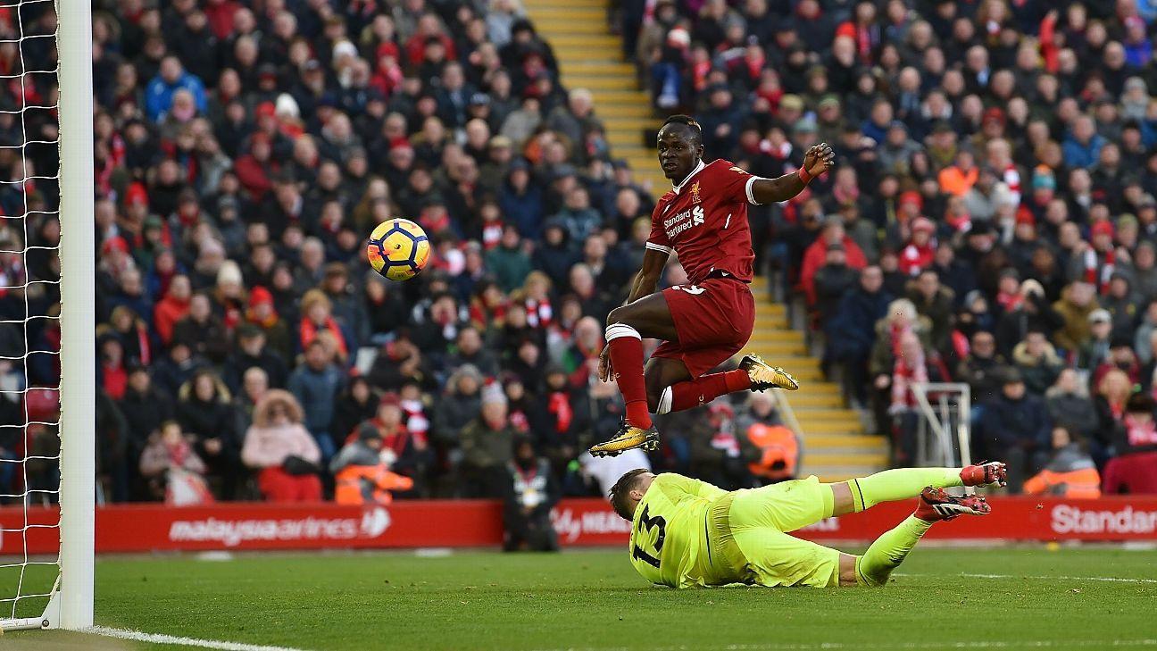 Liverpool's Sadio Mane scores vs West Ham