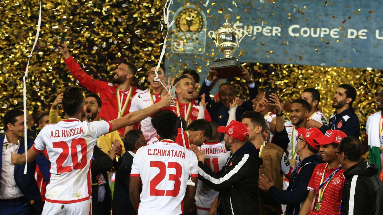 Wydad Casablanca celebrate CAF Super Cup success