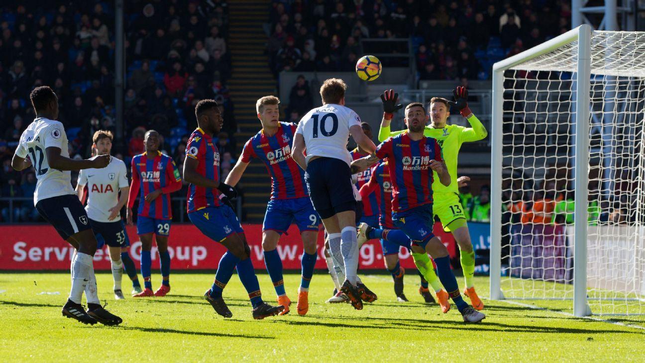 Tottenham's Harry Kane scores opening goal vs Crystal Palace
